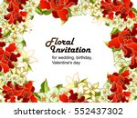 invitation with floral... | Shutterstock .eps vector #552437302