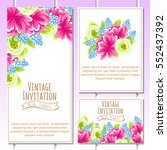 invitation with floral... | Shutterstock .eps vector #552437392
