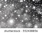 abstract shiny white snow ... | Shutterstock .eps vector #552438856