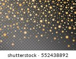 abstract golden starfall effect ... | Shutterstock .eps vector #552438892