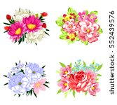 flower set | Shutterstock .eps vector #552439576