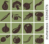 vegetables icons. isolated... | Shutterstock .eps vector #552443776