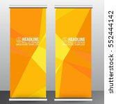 roll up business brochure flyer ...   Shutterstock .eps vector #552444142