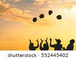 silhoutte of construction... | Shutterstock . vector #552445402