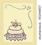 wedding cake vector | Shutterstock .eps vector #55244857