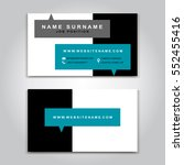 vector business card creative... | Shutterstock .eps vector #552455416