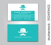 vector business card creative... | Shutterstock .eps vector #552455422