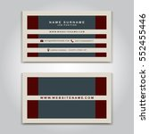 vector business card creative... | Shutterstock .eps vector #552455446