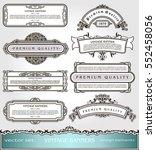 vector vintage banners borders... | Shutterstock .eps vector #552458056
