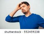 the man is sad | Shutterstock . vector #552459238