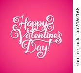 vector happy valentines day... | Shutterstock .eps vector #552460168