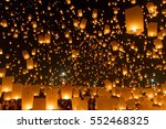 sky lanterns  flying lanterns ... | Shutterstock . vector #552468325
