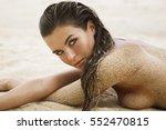 portrait of a beautiful woman... | Shutterstock . vector #552470815