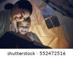 family bedtime. mom and child...   Shutterstock . vector #552472516