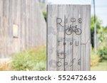 Bicycle Ride Thru Cafe Sign...
