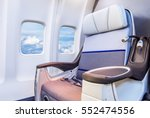 airplane seats in the cabin... | Shutterstock . vector #552474556