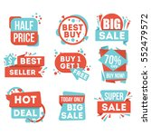 big sale and hot deal badge... | Shutterstock .eps vector #552479572