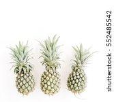 pineapples on white background. ... | Shutterstock . vector #552485542