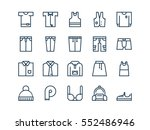 clothing. set of outline vector ...