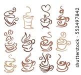 coffee and tea cups symbols...