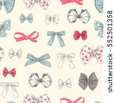 seamless pattern with bows... | Shutterstock .eps vector #552501358