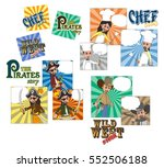 chef pirate cowboy cartoon | Shutterstock . vector #552506188