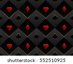 black and red seamless pattern... | Shutterstock .eps vector #552510925