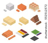 construction material isometric ...