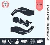 hands holding baby   Shutterstock .eps vector #552514915