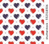 hearts pattern. valentines day... | Shutterstock .eps vector #552518506