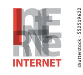vector internet. broken text | Shutterstock .eps vector #552519622