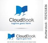 book logo template design... | Shutterstock .eps vector #552521836
