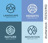 nature logo template design... | Shutterstock .eps vector #552521902