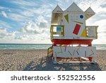 art deco lifeguard hut white... | Shutterstock . vector #552522556
