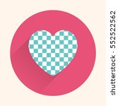 flat heart icon  valentines day ... | Shutterstock .eps vector #552522562