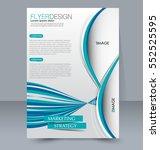abstract flyer design... | Shutterstock .eps vector #552525595