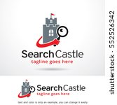 search castle logo template... | Shutterstock .eps vector #552526342
