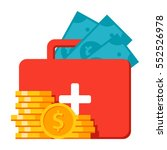 emergency fund concept with...   Shutterstock .eps vector #552526978