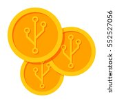 cryptocurrency icon for bitcoin ...   Shutterstock .eps vector #552527056