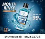 mouth rinse ads  refreshing... | Shutterstock .eps vector #552528736