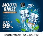 mouth rinse ads  refreshing... | Shutterstock .eps vector #552528742