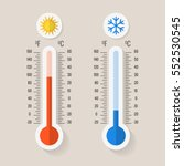 celsius and fahrenheit... | Shutterstock .eps vector #552530545