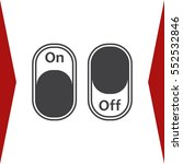 on off switch icon vector flat... | Shutterstock .eps vector #552532846
