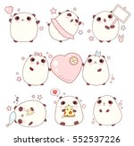 collection of cute pandas with... | Shutterstock .eps vector #552537226