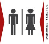 man and woman icon vector flat... | Shutterstock .eps vector #552537478