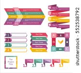abstract infographics set with... | Shutterstock .eps vector #552538792