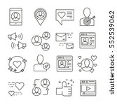 social media and network icons... | Shutterstock .eps vector #552539062