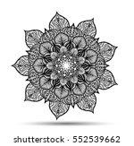 vector mandala for coloring... | Shutterstock .eps vector #552539662
