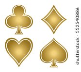 set with gold suits of playing...