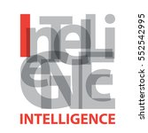 vector intelligence. broken text | Shutterstock .eps vector #552542995
